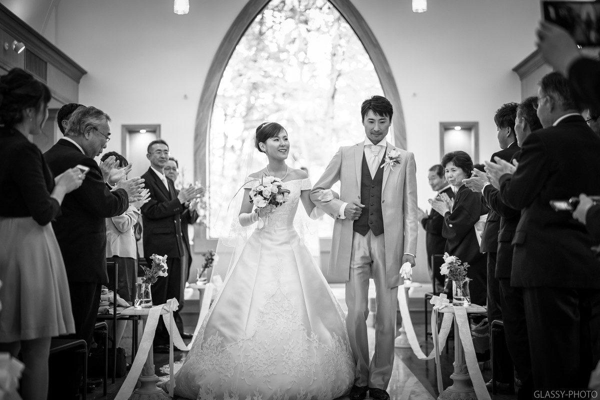 ほっとした感じの花嫁の笑顔が印象的でした
