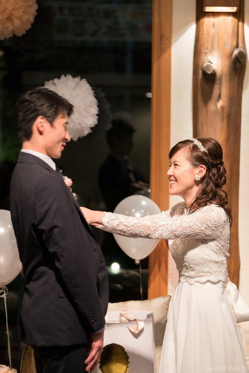 実は胸パンなんです。花嫁がめっちゃ楽しそう。
